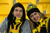Fans in the grandstand before the Super Rugby final match between the Hurricanes and Lions at Westpac Stadium, Wellington, New Zealand on Saturday, 6 August 2016. Photo: Dave Lintott / lintottphoto.co.nz