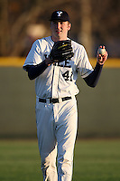March 13, 2010:  Brook Hart of the Yale Bulldogs vs. the Akron Zips in a game at Henley Field in Lakeland, FL.  Photo By Mike Janes/Four Seam Images