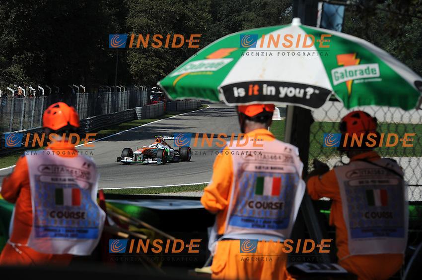 GERMAN ADRIAN SUTIL ON FORCE INDIA VJM06. <br /> Monza 06-09-2013 <br /> Formula 1 Gp Italia <br /> Foto Bernard Asset Panoramic Insidefoto