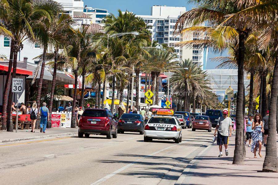 Ft. Lauderdale, Florida.  Street Scene, Atlantic Blvd., Florida State Highway A1A.