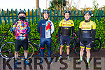 """John Herlihey (Kilcummin), Eddie Carvill (Newcastlewest), John Histon (Newcastlewest) and Mark Foley (Newcastlewest) taking part in the Tom Crean """"Unsung Hero"""" Cycle fundraiser in the Ballyseede Garden Centre on Saturday."""