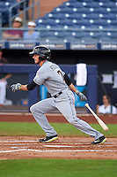 Mesa Solar Sox shortstop J.T. Riddle (7) at bat during an Arizona Fall League game against the Peoria Javelinas on October 21, 2015 at Peoria Stadium in Peoria, Arizona.  Peoria defeated Mesa 5-3.  (Mike Janes/Four Seam Images)