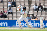 Ravindra Jadeja, India drives into the covers for tuns during India vs New Zealand, ICC World Test Championship Final Cricket at The Hampshire Bowl on 23rd June 2021
