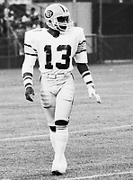 Larry Highbaugh Edmonton Eskimos 1981. Photo Scott Grant