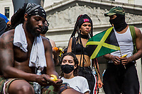 NEW YORK, NEW YORK - JUNE 04: People take part during a Protest on June 4, 2020 in New York. Floyd's death, the most recent in a series of deaths of black Americans at the hands of the police, has set off days and nights of protests across the country. (Photo by Pablo Monsalve / VIEWpress via Getty Images)