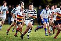 Jake Te Hiwi in action during the Otago 1st XV secondary schools rugby union match between John McGlashan College and Otago Boys' High School at John McGlashan College in Dunedin, New Zealand on Saturday, 4 July 2020. Photo: Joe Allison / lintottphoto.co.nz