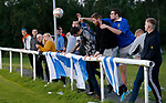 Pix Magi Haroun 26.08.2020<br /><br />REPORTER: Gideon Brooks:<br />Pix shows the first crowd of 150 fans let in to watch Daisy Hill FC v Bury FC. Fans deal with a loose ball during the match