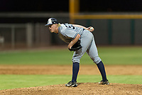AZL Padres 1 relief pitcher Tom Colletti (53) looks in for the sign during an Arizona League game against the AZL Cubs 1 at Sloan Park on July 5, 2018 in Mesa, Arizona. The AZL Cubs 1 defeated the AZL Padres 1 3-1. (Zachary Lucy/Four Seam Images)