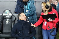 (L-R) Swansea manager Carlos Carvalhal and Ceri during the Emirates FA Cup match between Swansea and Wolverhampton Wanderers at the Liberty Stadium on January 17, 2018 in Swansea, Wales. (Photo by Athena Pictures/Getty Images)