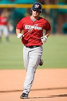 Matt LaPorta (3) of the Huntsville Stars runs the bases during batting practice at the Baseball Grounds in Jacksonville, FL, Thursday June 12, 2008.