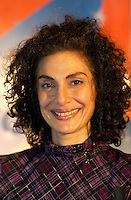 March 12th, 2002, Montreal, Quebec, Canada<br /> <br /> Algerian Singer Sylva  Balassanian  Pose for photographers after the press conference for the upcoming Franco Fete, in Quebec City.<br /> March 12th 2002, in Montreal, Canada<br /> <br /> <br /> <br /> <br /> <br /> <br /> (Mandatory Credit: Photo by Sevy - Images Distribution (©) Copyright 2002 by Sevy<br /> <br /> NOTE :  D-1 H original JPEG, saved as Adobe 1998 RGB