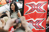 28/6/2010. The X Factor Judge Katy Perry is pictured arriving at the Dublin Convention center Spencer Dock. Picture James Horan/Collins.