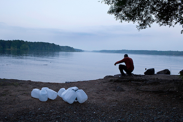 May 19, 2010. Chatham County, North Carolina.. Jug fishing is the art of tieing a baited hook and line to floating milk jugs and dropping the line into the water. After that, you just sit back and wait for the fish to bite, or not.. The jugs are tied together to create large bobbers.