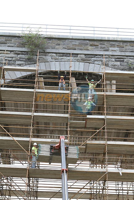 Work on the Viaduct at the Marsh Road..(Photo credit should read Jenny Matthews www.newsfile.ie)....This Picture has been sent you under the conditions enclosed by:.Newsfile Ltd..The Studio,.Millmount Abbey,.Drogheda,.Co Meath..Ireland..Tel: +353(0)41-9871240.Fax: +353(0)41-9871260.GSM: +353(0)86-2500958.email: pictures@newsfile.ie.www.newsfile.ie.
