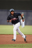 Tampa Yankees outfielder Ericson Leonora (20) takes third on a wild pitch during a game against the Daytona Tortugas on April 24, 2015 at George M. Steinbrenner Field in Tampa, Florida.  Tampa defeated Daytona 12-7.  (Mike Janes/Four Seam Images)
