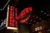 Montreal Qc CANADA _ august 2012 : retails stores in downtown Montreal<br />  - Reubens Deli