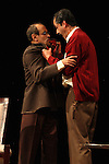 Actor Daniel Moro and Sergio Lopez perform the play An Enemy of the People by Henrik Ibsen at the Teatto El Galeon, July 28, 2008.  The play is directed by Raquel Seoane. The theater company Contigo... America started its work on 1981 in Mexico. Photo by Heriberto Rodriguez