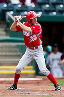 Brian Martin (23) of the Bradley Braves at bat during a game against the Missouri State Bears on May 13, 2011 at Hammons Field in Springfield, Missouri.  Photo By David Welker/Four Seam Images