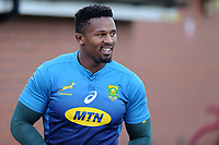 Siya Kolisi of South Africa in action during the South Africa Training Session at The WSC Trefforest Grounds in Trefforest, Wales, UK. Monday 19 November 2018