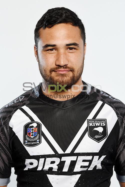 Pita Hiku.<br /> Headshots of the New Zealand Kiwis rugby league team, Auckland, New Zealand. 7 October 2018.<br /> Copyright photo: Andrew Cornaga / www.photosport.nz - ©PhotosportNZ/SWpix.com