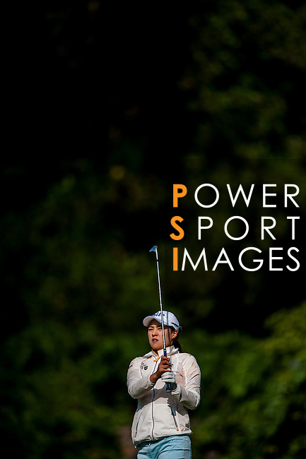 In Gee Chun of Korea in action during the Hyundai China Ladies Open 2014 at World Cup Course in Mission Hills Shenzhen on December 13 2014, in Shenzhen, China. Photo by Xaume Olleros / Power Sport Images