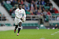 Christian Wade of England in space during the match between England and Barbarians at Twickenham Stadium on Sunday 31st May 2015 (Photo by Rob Munro)