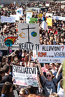 "Rome, 15/03/2019. Today, thousands of students gathered in Piazza della Madonna di Loreto (Fori Imperiali) to take part in the ""Global Strike for Future"" demonstration (1.). The demonstration was organised globally following the ""Fridays for Future"" actions directly related to Greta Thunberg (2.), the 16 year old ""Swedish political activist seeking to stop global warming and climate change, [who] in August 2018 became a prominent figure for starting the first school strike for climate, outside the Swedish parliament building"" (source Wikipedia.org, 3.). From Greta Thunberg twitter page (2.): <<Over 1,4mn on #SchoolStrike4Climate yesterday according to latest update. 2083 places in 125 countries on all continents [...]>>.<br />