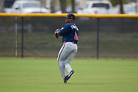 Atlanta Braves Nick Shumpert (2) during practice before a Minor League Spring Training game against the New York Yankees on March 12, 2019 at New York Yankees Minor League Complex in Tampa, Florida.  (Mike Janes/Four Seam Images)