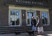 High Wycombe, England 20/04/2020 -<br /> Public walk there dogs in the Rye park in High Wycombe during the COVID-19 pandemic lockdown as the UK Government advice to maintain social distancing and minimise time outside in High Wycombe on 20 April 2020. Photo by PRiME Media Images / Andy Rowland.
