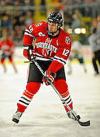 18 January 2008: Northeastern University Huskies' forward Dennis McCauley, a Junior from Billerica, MA, in action against the University of Vermont Catamounts at Gutterson Fieldhouse in Burlington, Vermont. The two teams battled to a 2-2 tie in the first game of their 2-game weekend series...Mandatory Photo Credit: Ed Wolfstein Photo
