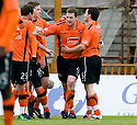 05/02/2011   Copyright  Pic : James Stewart.sct_jsp005_hamitlon_v_dundee_utd  .::  JON DALY CELEBRATES AFTER HE HEADS HOME DUNDEE UTD'S FIRST  ::.James Stewart Photography 19 Carronlea Drive, Falkirk. FK2 8DN      Vat Reg No. 607 6932 25.Telephone      : +44 (0)1324 570291 .Mobile              : +44 (0)7721 416997.E-mail  :  jim@jspa.co.uk.If you require further information then contact Jim Stewart on any of the numbers above.........