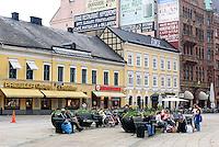 Auf dem Stortorget in Malmö, Provinz Skåne (Schonen), Schweden, Europa<br /> on Stortorget in Malmö, Sweden