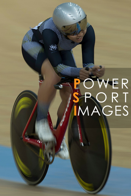 Leung Bo Yee of the Ligne 8- CSR competes in the Women Elite - Individual Pursuit Qualifying category during the Hong Kong Track Cycling National Championships 2017 at the Hong Kong Velodrome on 18 March 2017 in Hong Kong, China. Photo by Chris Wong / Power Sport Images