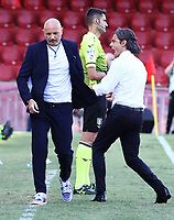 Filippo Inzaghi coach of SC Benevento celebrates face to Sinisa Mihajlovic coach of Bologna at the end of the match of the Serie A football match between SC Benevento and Bologna FC at stadio Ciro Vigorito in Benevento (Italy), October 04th, 2020. <br /> Photo Cesare Purini / Insidefoto