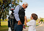 Bob Baffert has a chance to be Dad instead of Hall of Fame Trainer as he take son Bode to a golf lesson at an area golf course.