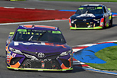 #11: Denny Hamlin, Joe Gibbs Racing, Toyota Camry FedEx Freight, #24: William Byron, Hendrick Motorsports, Chevrolet Camaro Unifirst