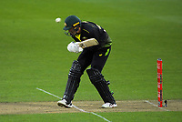 Australia's Ashton Agar ducks a Trent Boult bouncer during the 4th international men's T20 cricket match between the New Zealand Black Caps and Australia at Sky Stadium in Wellington, New Zealand on Friday, 5 March 2021. Photo: Dave Lintott / lintottphoto.co.nz