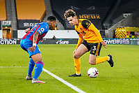 30th October 2020; Molineux Stadium, Wolverhampton, West Midlands, England; English Premier League Football, Wolverhampton Wanderers versus Crystal Palace; Rayan Aït-Nouri of Wolverhampton Wanderers tries to create space to get a cross into the box