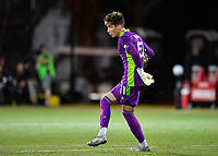LAKE BUENA VISTA, FL - JULY 26: Thomas Hasal of Vancouver Whitecaps FC watches his pass during a game between Vancouver Whitecaps and Sporting Kansas City at ESPN Wide World of Sports on July 26, 2020 in Lake Buena Vista, Florida.
