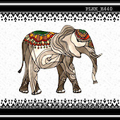 Kris, ETHNIC, paintings+++++,PLKKE440,#ethnic# elephants, Africa