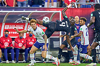 5th September 2021; Nashville, TN, USA;  United States forward Josh Sargent challenges Canada defender Kamal Miller during a CONCACAF World Cup qualifying match between the United States and Canada on September 5, 2021 at Nissan Stadium in Nashville, TN.