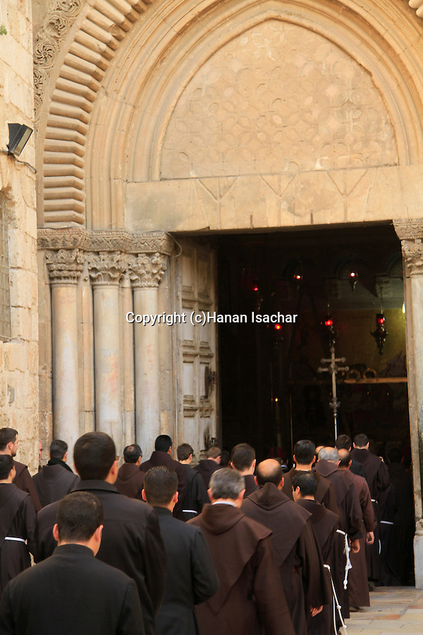 Israel, Jerusalem, Easter, Holy Thursday at the Church of the Holy Sepulchre