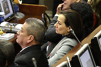 BOGOTA -COLOMBIA. 20-07-2014. Clara Rojas, senadora electa, durante la Instalación del Congreso de la República de Colombia período 2014-18 por parte del presidente, Juan Manuel Santos en el Salón Elítico del Capitolio Nacional./ Clara Rojas, senator elected, during the installation of the Congress of the Republic of Colombia period 2014-18 by the president, Juan Manuel Santos at the Salon Eliptico of the National Capitol. Photo: VizzorImage/ Gabriel Aponte / Staff