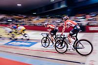 Jasper de Buyst (BEL/Lotto-Soudal) & Tosh Van der Sande (BEL/Lotto-Soudal)<br /> <br /> zesdaagse Gent 2019 - 2019 Ghent 6 (BEL)<br /> day 2<br /> <br /> ©kramon