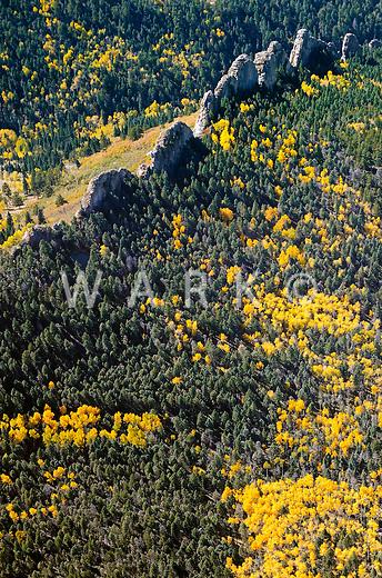 Natural dikes at base of Spanish Peaks near LaVeta, Colorado