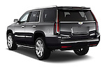 Car pictures of rear three quarter view of 2017 Cadillac Escalade Luxury 5 Door SUV Angular Rear