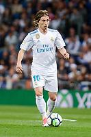 Real Madrid Luka Modric during La Liga match between Real Madrid and Athletic Club at Santiago Bernabeu Stadium in Madrid. April 19, 2017.  *** Local Caption *** © pixathlon<br /> Contact: +49-40-22 63 02 60 , info@pixathlon.de