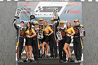 #74 Compass Racing, Audi RS3 LMS TCR, TCR: Rodrigo Sales, Kuno Wittmer, podium, #75 Compass Racing, Audi RS3 LMS TCR, TCR: Roy Block, Pierre Kleinubing, #77 Compass Racing, Audi RS3 LMS TCR, TCR: Britt Casey Jr, Tom Long
