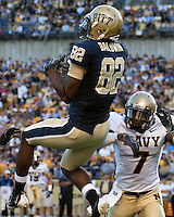 Pittsburgh wide reciever Jonathan Baldwin (82) makes a catch. The Pittsburgh Panthers defeated the Navy Midshipmen 27-14 at Heinz Field, Pittsburgh, PA.