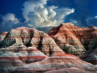 Colorful rocks at Badlands National Park, South Dakota